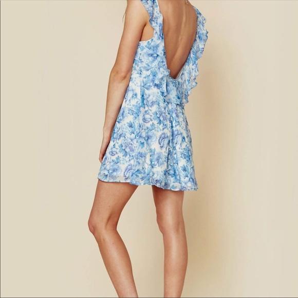 Show Me Your Mumu Delilah Blue Floral Mini Dress